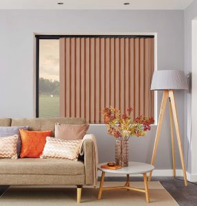 Bronze vertical blinds