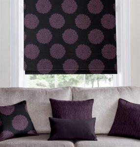 Purple Patterned Roman Blind