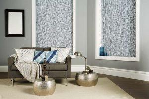 Silver vertical blinds
