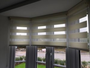Roller Shutter Blinds in bay window