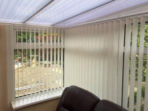 Vertical Blind Installed in conservatory