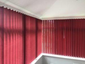 Red Vertical Blind