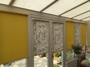 Yellow & Patterned Roller Blinds
